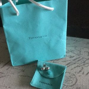 Authentic Tiffany's hardware ball earrings.